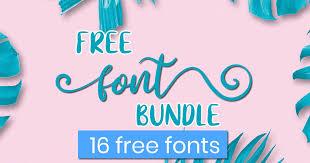 Free bold retro neon 3d lettering (.png). Free Font Bundle Bundle Creative Fabrica