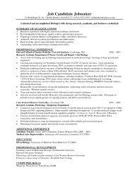 Biology Resume Template Fascinating Biology Resumes Templates Molecular Biologist Resume Examples Dadaji