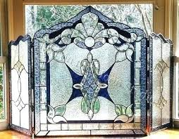 stain glass fire screen stained glass fireplace screen free