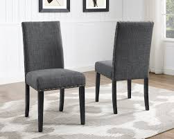 full size of chair upholstered studded dining chairs luxury biony gray fabric with nailhead trim set