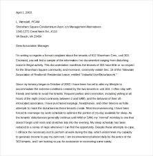 14 Tenant Complaint Letter Templates Pdf Doc Free