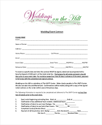 wedding event contract form wedding catering contract sample