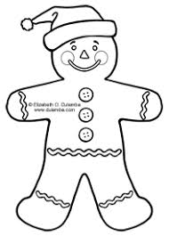 Coloring Pages Of A Gingerbread Man Color Bros