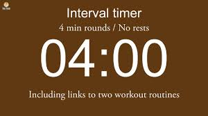 Timer 4 Min Interval Timer 4 Min Rounds No Rests Including Links To Two Workout Routines