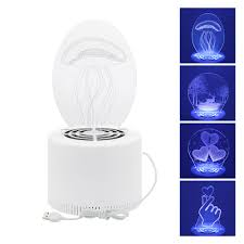 Electric Night Light Lamp Creative 3d Physical Mosquito Killer Lamp Usb Powered Bug Zapper Led Electric Night Light Home Anti Mosquito Insect Fly Trap