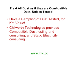 Kst Value Chart Combustible Dust Cleaning Cleaning Combustible Dust