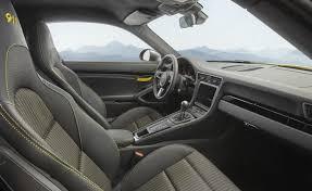2018 porsche 911 interior. fine interior 2018 porsche 911 carrera t interior seats and dashboard with  interior package in yellow for porsche n