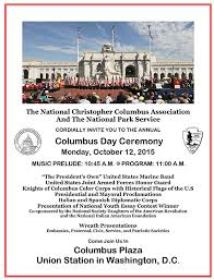 columbus day ceremony in washington dc ciao washington ncca columbus day flyer 2015