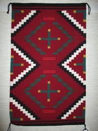 Chief Revival Weaving by Priscilla Warren - Smaller Size Navajo Rug - Two  Grey Hills