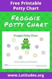 potty training chart cute froggie acn latitudes froggie potty chart