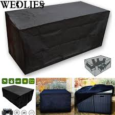 black patio furniture covers. Black Waterproof Outdoor Patio Furniture Set Cover Garden Chair Table Rain Dust Covers E