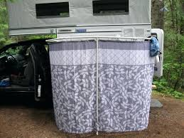 the truth about outside showers outdoor shower curtain bathrooms with a four wheel camper camping