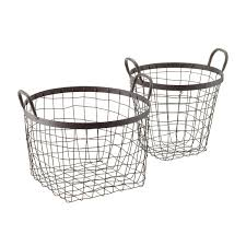Rustic Decorative Storage Baskets with Handles ...