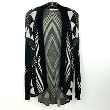 Blu Pepper Size Chart Details About Blu Pepper Womens Ethnic Aztec Hi Lo Open Cardigan Sweater Black Ivory Size S