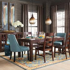 dining room sets. Build Your Own Parsons Tobacco Brown \u0026 Corinne Dining Collection Room Sets P