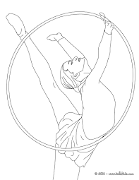 Small Picture Hoop individual all around rythmic gymnastics coloring pages