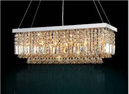living room led modern rectangular crystal chandelier light fixture pendant with regard to elegant house rectangle