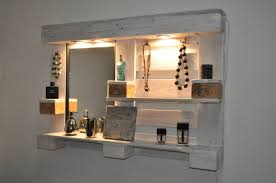 pallet furniture design. Wall-mounted Vanity Mirror Pallet Furniture Design