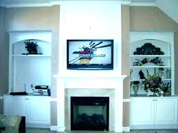 mounting above fireplace hiding wires beautiful hide tv how to over brick uk firepla