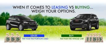 lease a car vs buy robert brogden buick gmc dealership buy v s lease
