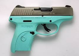 ruger 3263 lc9s tgn lc9 pistol 9mm e nickel finish turquoise cerakote finish on grip frame