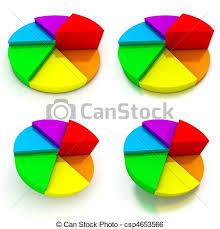 Pie Chart Four Colourful Views