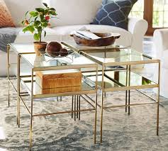 glass end table coffee table