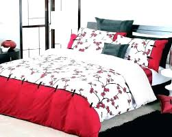 cherry blossom duvet set tesco bed comforter bedding beautiful red blosso