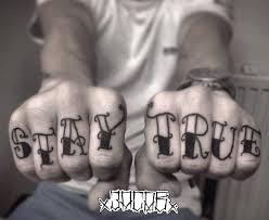 Tetování Nápis Stay True Tetování Tattoo