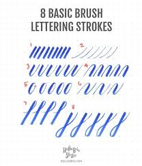 Stroke Charts Calligraphy The Beginners Guide To Practice Modern Calligraphy