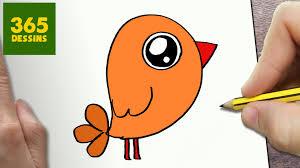 Comment Dessiner Petit Oiseau Kawaii Tape Par Tape Dessins
