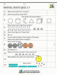 First Grade Mental Math Worksheets Class 1 Math ~ Koogra