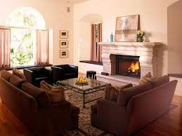 Normal Living Room With Fireplace Redtinku