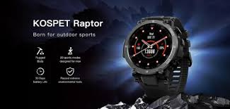 <b>Kospet Raptor</b> rugged smartwatch launched with 1.3-inch display ...