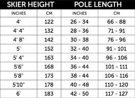 Ski Pole Measurement Chart Google Search Ski Gear