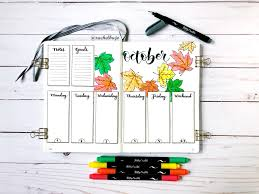 Design A Journal Design A Bullet Journal Weekly Spread With Fall Leaves