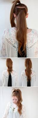 5 Minute Hairstyles For Girls Best 25 Double Ponytail Ideas On Pinterest Pony Tail Braids