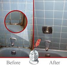 before and after how to remove black mould from bathroom sealant