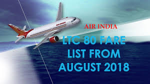 Ltc 80 Fare List From August 2018