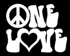 <b>one love</b> hippie funny vinyl decal <b>car</b> bumper sticker 205 Décor ...
