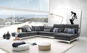 grey leather sectional sofa with chaise  goodca sofa