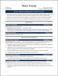 Resume Sample For Hr Assistant Fresh Graduate Human Resources
