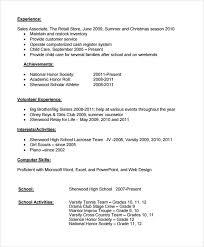 High School Resume Format Classy 28 Sample High School Resume Templates Sample Templates