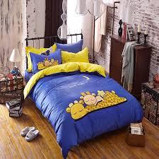 kids bedding set red happy boys girls quilt duvet cover bed sheet cartoon pattern bedspread