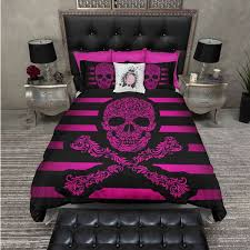 lightweight hot pink sugar skull bedding comforter cover sugar skull 119 liked on polyvore featuring home bed bath bedding duvet covers