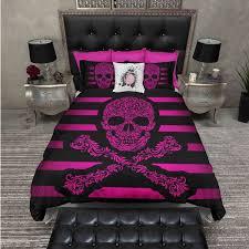 lightweight hot pink sugar skull bedding comforter cover sugar skull 119