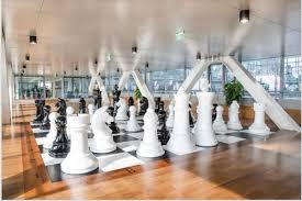 Office game room Work The New Building Now Features Dedicated Billiards Game Room Lifesize Chess And Checkers Meditation Area And An Inhouse Gym Throwmotion Firms Take Office Games To New Level Throwmotion