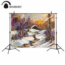 Allenjoy Vinyl material photography Oil painting color real winter realism  illusory photography backdrops photo studio props-in Background from  Consumer ...