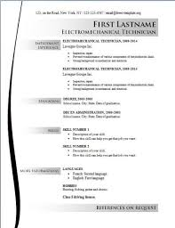 Free Sample Resume Templates 2016 For Electrician Online Free Resume