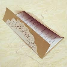 Brown paper bag invitations